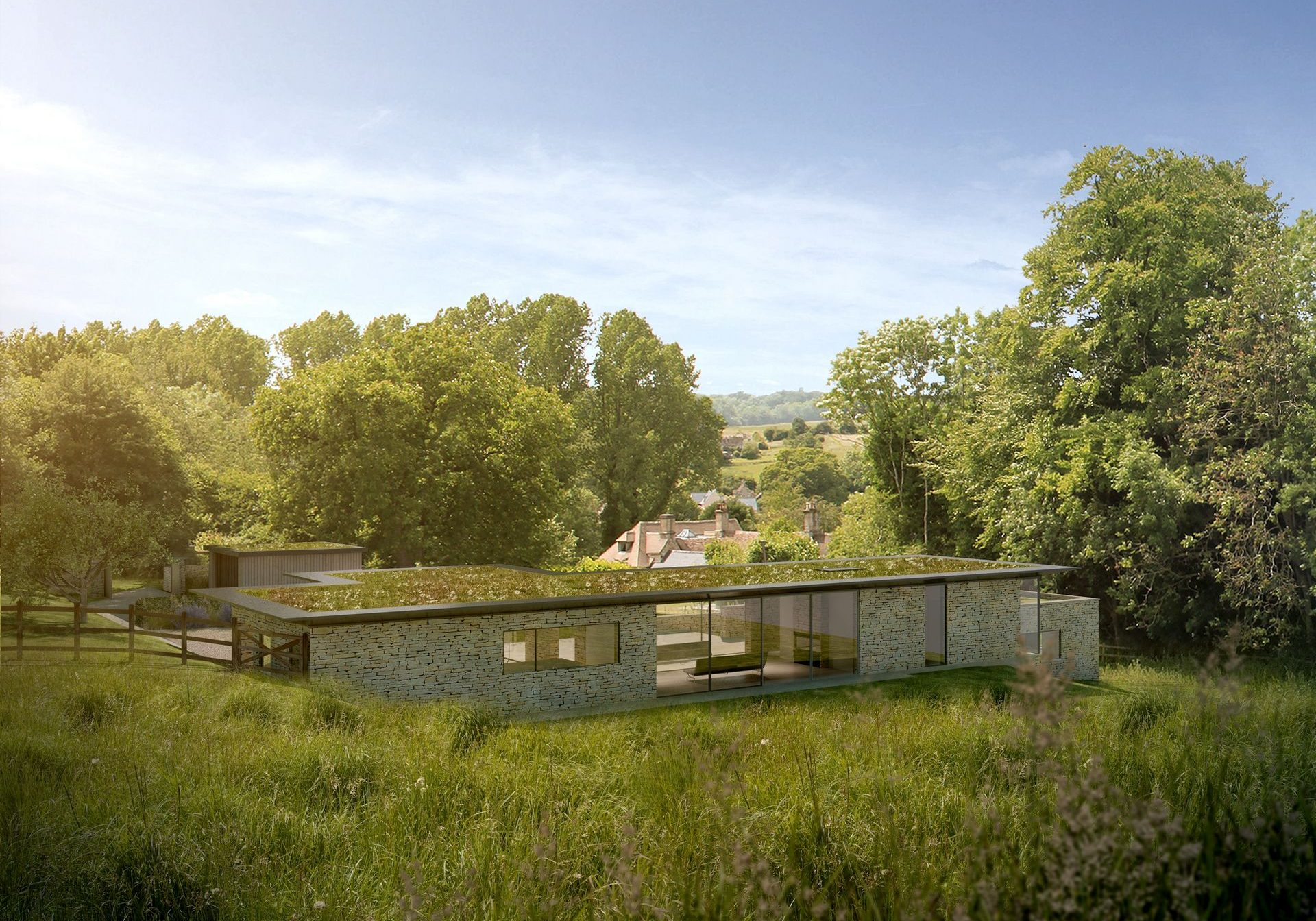 Contemporary eco home in AONB <br> Cirencester