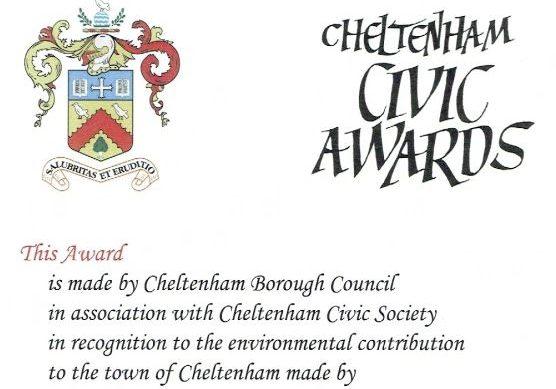 Cheltenham Civic Award winner