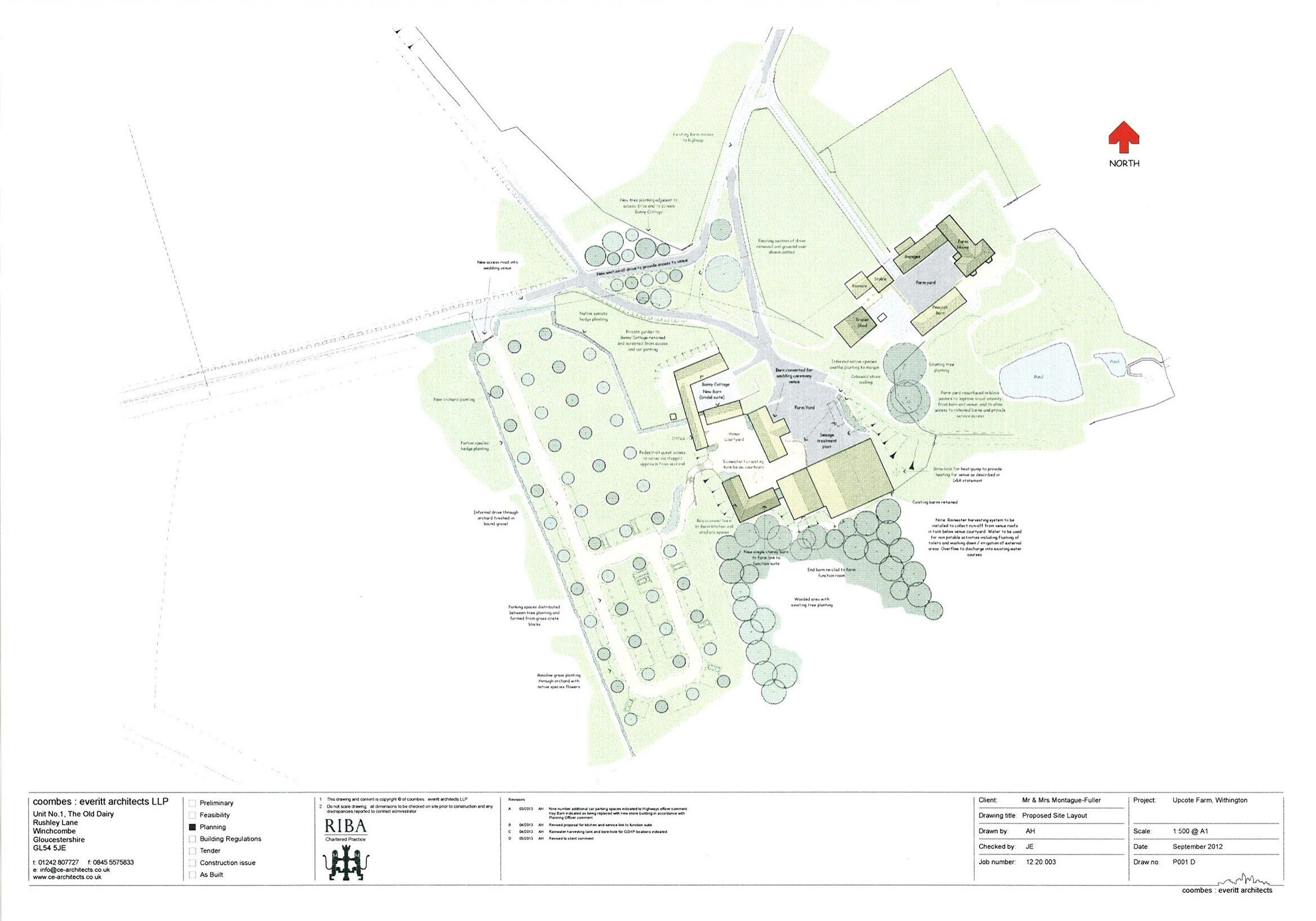 revised site layout